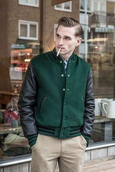 harry stedman x golden bear - 2013 fall / winter varsity jacket