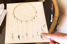 Dreamcatcher fingerprint board from a Holiday Boho Baby Shower on Kara's Party Ideas | KarasPartyIdeas.com (7)