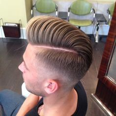 Mens hard part low fade