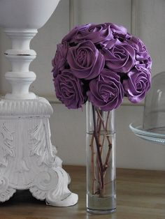 Purple cupcake bouquet.