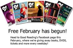 Each weekday in February you'll have a chance to win fantastic prizes, including books, tickets, DVDS and more books.    All you have to do is like or comment on a post to enter - it's that easy!     Visit www.facebook.com/grmagazine