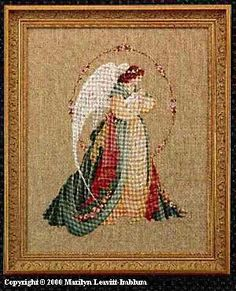 Guardian Angel...Cross Stitch pattern by Marilyn Leavitt Imblum
