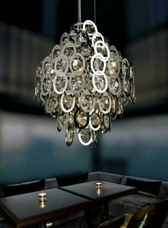 The attractive modern Lumiart lighting lamp collection is perfect for upscale residential projects, restaurants, retail stores, hotels, etc. Home Lighting, Modern Lighting, Residential Lighting, Santorini, Lamp Light, Chandelier, Ceiling Lights, Contemporary, Home Decor