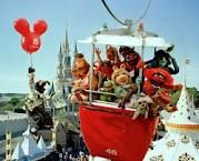 vintage walt disney world, muppets, skyway to tomorrowland