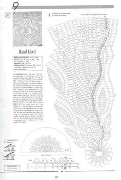 crochet home: Tablecloth and 2 doilies Crochet Tablecloth Pattern, Crochet Doily Diagram, Crochet Pillow Pattern, Crochet Square Patterns, Crochet Chart, Crochet Books, Crochet Home, Thread Crochet, Crochet Mandela