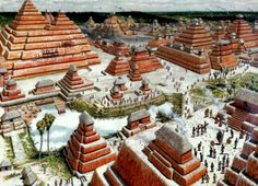 mayan city of el mirador recreation illustrations - Bing Images