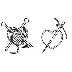 Knitting and Sewing SVG Cuttable Design