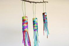 Atelier DIY koinobori - Vestido Tutorial and Ideas Paper Roll Crafts, Diy And Crafts, Arts And Crafts, Diy For Kids, Crafts For Kids, Art Lessons, Activities For Kids, Creations, Workshop