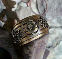Steampunk JEWELRY | Steampunk Geared Cuff Jewelry Bracelet, ... | Steampunk Jewelries