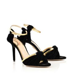 Dress from the feet up! This is what I've got my eye on from Charlotte Olympia 39 eu size Ankle Strap Heels, Ankle Straps, Designer Sandals, Fashion Heels, Charlotte Olympia, Black Sandals, Designing Women, Dust Bag, Womens Fashion