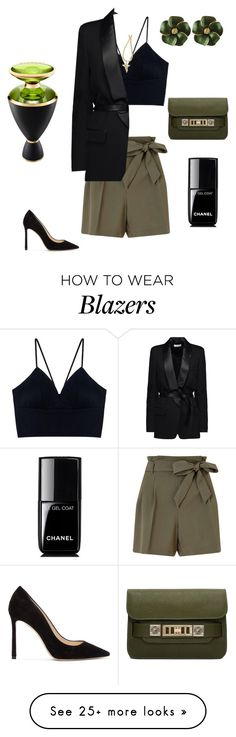 """Night style"" by dee67 on Polyvore featuring Miss Selfridge, IRO, Jimmy Choo, Proenza Schouler and Bulgari"