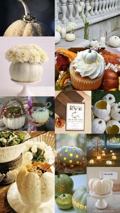 Yes to the pumpkin cupcake!!!   White Pumpkins wedding#Repin By:Pinterest++ for iPad#