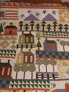 American the Beautiful from McCalls quilt along.. Hand pieced.