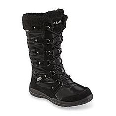 Kamik Women's Valetta Black Faux Fur Waterproof Cold Weather Snow Boot