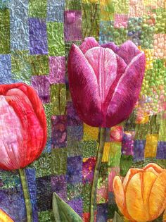 Lente in Keukenhof - Ethelda Ellis.  Photo byannelize : Festival of Quilts 2014