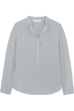 STELLA MCCARTNEY Eva Silk Crepe De Chine Blouse. #stellamccartney #cloth #tops