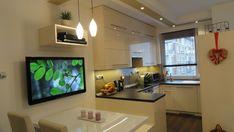 Kis konyha nagy kényelem - Kisméretű modern konyha étkezőpulttal - konyha…