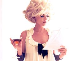 . vintage glamour . (this is how I wish I could check my inbox everyday)