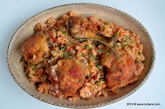 Cum se prepara orezul pilaf cu pui Risotto, Curry, Ethnic Recipes, Food, Red Peppers, Curries, Essen, Meals, Yemek