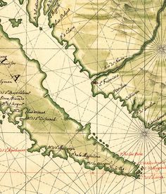 Vintage Map of California, Old map 1650