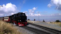 The Brockenbahn, Brocken Station, the train is leaving again