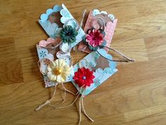 Pretty Handmade Pockets/Open Envelopes/Tags by ThePurplePapillon