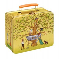 Pirate Party Retro Lunchbox - great vintage styling - use it for lunch or precious treasures! www.belleenfants.com