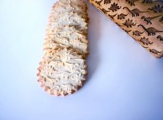 laser cut rolling pin and imprinted cookies!