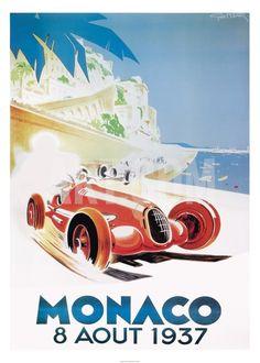 9th Grand Prix Automobile, Monaco, 1937 Print by Geo Ham at Art.co.uk