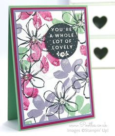 Stampin' Up! Demonstrator Pootles - Garden in Bloom Card using Whole Lot of Lovely Hostess Set