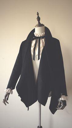 +第六十九部門+Vanessa's Fugue羊毛羊絨不規則手工大衣+-淘寶台灣,萬能的淘寶