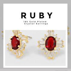 Royal Luxe Earrings Austrian Cut Crystal earrings 18k plated gold post gorgeous piece! Cubic zirconia studs. Farah Jewelry Jewelry Earrings