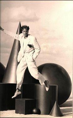 Giorgio Armani - Fabienne Terwinghe & Jeff Forney - Spring 1993 / Photos PETER LINDBERGH