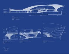 TWA Architectural Drawing Blueprint