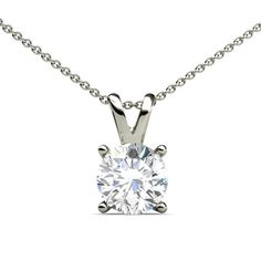 This is a Beautiful 0.55ct Double Bail Solitaire Pendant With April Birthstone Diamond representing Love.