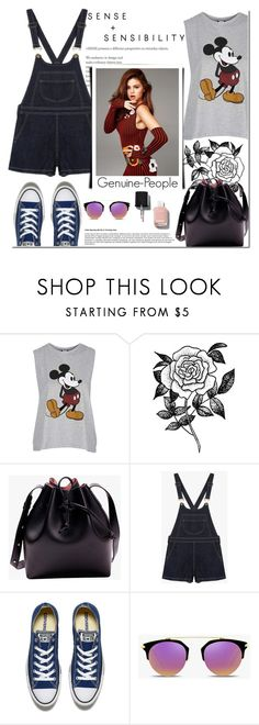 """""""Genuine-People - Contest with a Prize!"""" by dora04 ❤ liked on Polyvore featuring Topshop, Forever 21, Converse and Chanel"""