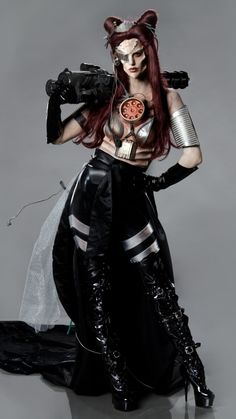 """Face Off 309 Spotlight Challenge: """"Junkyard Cyborg"""" - Nicole's cyborg princess from another planet. She's beautiful and badass at the same time."""