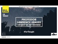 Lawrence Krauss on the Origins of the Universe - YouTube
