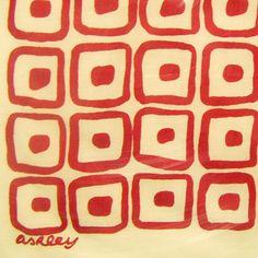 LAURA ASHLEY 1953 scarf design #patterns