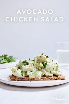 Avocado Chicken Salad. It's light and healthy but filling and packed with protein for an easy lunch or dinner option.