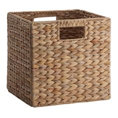 $9.47 Shop Basketville Water Hyacinth Folding Cube at Lowes.com