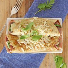 Pancakes With Cheese And Ham Recipe | BakingMad.com