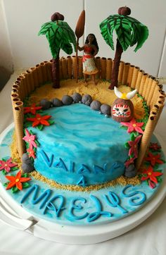 G teau vaiana moana cake anne sophie fashioncooking anniversaire pour petite fille - Jeux de cuisine de gateaux d anniversaire ...