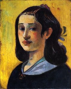 'Portrait of Aline Gauguin', 1890 - Paul Gauguin