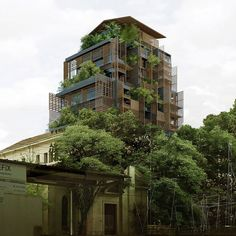Ateliers Jean Nouvel has released new renderings for its plant-covered luxury hotel adjoining a former maternity hospital in São Paulo, which will feature interiors by Philippe Starck.