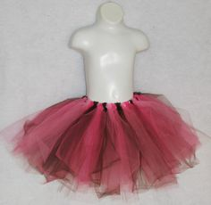Pretty good instructions for DIY Tutus: For average 3-year-old, use 21-inch strips of 6-inch wide tulle (from spool).  Double-know strips onto closed band of 3/4-1 inch non-roll elastic.  Make as dense as you like to get right amount of fluff.