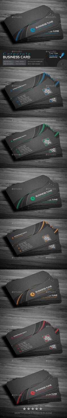 Corporate Business Card Template PSD. Download here : http://graphicriver.net/item/corporate-business-card/14535679?s_rank=1796&ref=yinkira