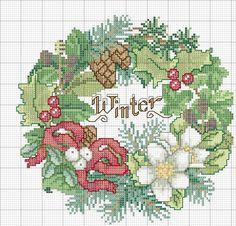 Schema punto croce Winter Colori