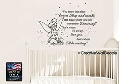 CreativeWallDecals Vinyl Wall Decal Sticker Bedroom Peter Pan Never Land Kids Tinkerbell Nursery