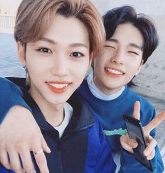 I love youuu so mush ! 💗💗💗 You are perfect man with a iconic voice 🎂 Minho, Best Duos, Felix Stray Kids, Kid Memes, Kids Icon, Crazy Kids, Wattpad, Korean Celebrities, Celebs